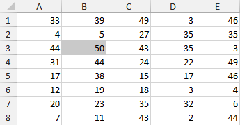 intersect vba excel